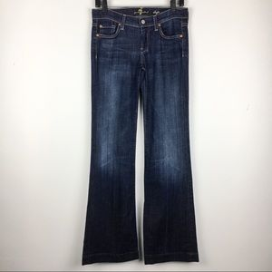 7 For All Mankind Dojo Jeans Dark Wash Size 26